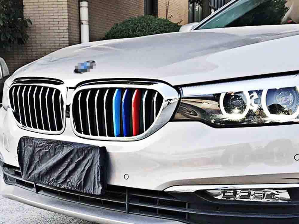 iJDMTOY Exact Fit//////M-Colored Grille Insert Decoration Trims Compatible With 2007-2010 BMW E83 X3 LCI w// 7 Beam Kidney Grill