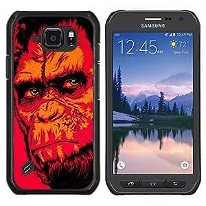 EJOOY---Cubierta de la caja de protección para la piel dura ** Samsung Galaxy S6Active Active G890A ** --Red Monkey Gorila