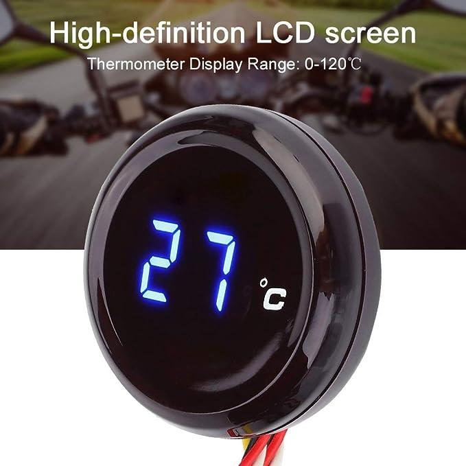 Termómetro para motocicleta - 1 PC de termómetro digital ...