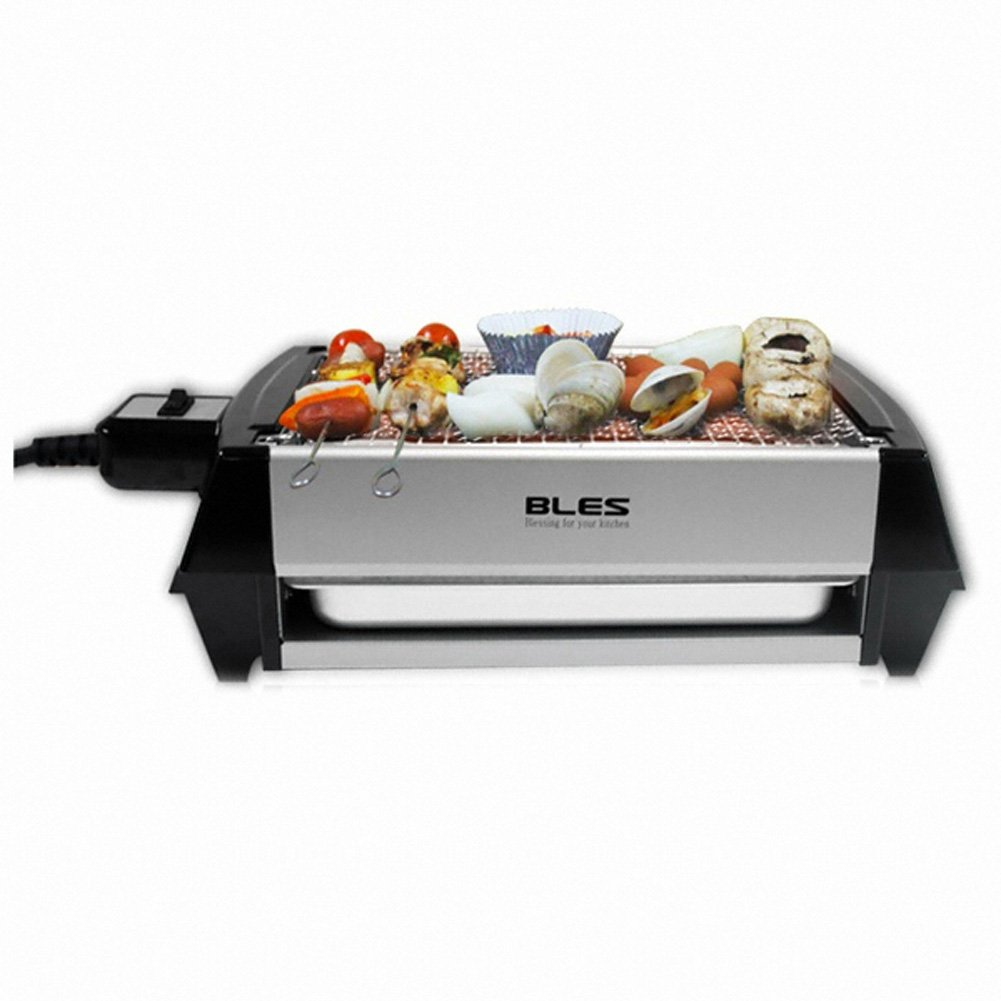 Bles Mini Barbeque Grill Mg155 Smokeless Patented Double-side Grill Pan