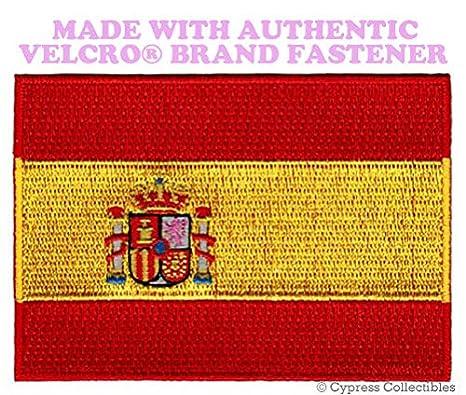 Bandera de España, español Espa? Un Bordado parche w/cierre de velcro marca