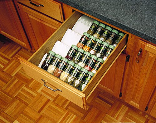 Rev-A-Shelf ST50-21W-52 Universal Spice Tray, Polymer-White, trimmable to fit