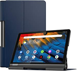 MoKo Case Fit Lenovo Yoga Smart Tab 10.1(YT-X705F), Ultra Lightweight Slim Smart Shell Stand Cover Case for Lenovo Yoga Smart Tab 10.1(YT-X705F) Tablet - Indigo