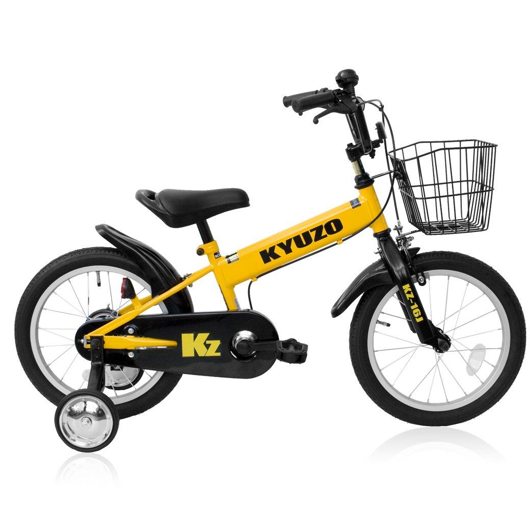 全5色 KYUZO 16インチ 子供用自転車 補助輪付 カゴ付 B06Y4M36RWイエロー