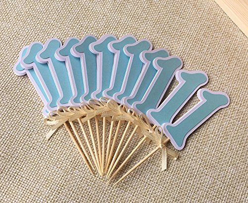 Number 1 Cupcake Toppers Picks for Baby Shower boy or girl 1st Birthday Party Decorations Gender Reveal Cake Accessory - Oops Womens Golf