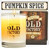 Scented Candles - Pumpkin Spice - Decorative Aromatherapy - 11-Ounce Soy Candle
