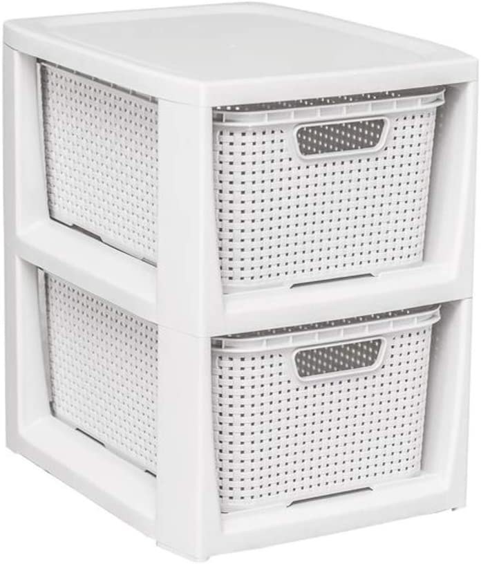 29,5 x 24 x 32,8 cm BranQ Anthrazit Home essential Regal in Rattan Design Kunststoff PP
