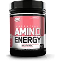 OPTIMUM NUTRITION ESSENTIAL AMINO ENERGY, Watermelon, Preworkout and Essential Amino Acids with Green Tea and Green Coffee Extract, 65 Servings