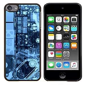 /Skull Market/ - Electronics Pcb Hdd X Ray Pc For Apple iPod Touch 6 6th Generation - Mano cubierta de la caja pintada de encargo de lujo -