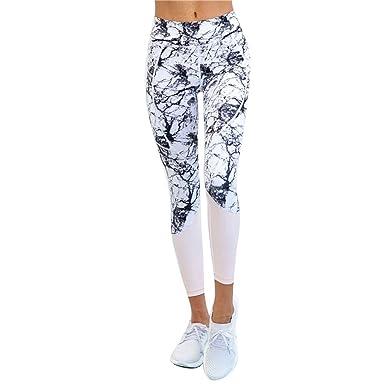 Wenyujh Femmes Leggings Pantalon de Sport Imprimé Motif Elégant Fashion  Pantalon Collant Streche Taille Haute Fitness c9f8b5cf397