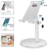 Adjustable Tablet/Phone Stand,AICase Telescopic Adjustable iPad Stand Holder,Universal Multi Angle Aluminum Stand…