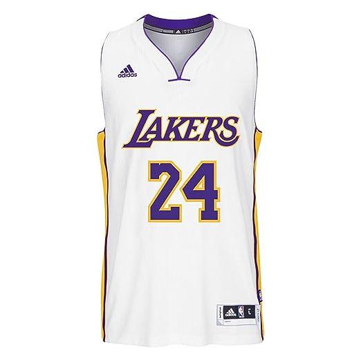 pretty nice 6329a 407da ADIDAS Men's NBA Los Angeles Lakers Kobe White #24 Jersey