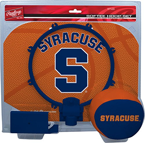 Rawlings NCAA Syracuse Orange Kids Slam Dunk Hoop Set, Orange, ()