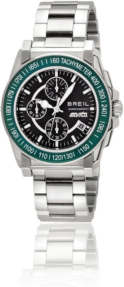 Breil TW0787 - Reloj cronógrafo de Cuarzo para Hombre con Correa de Acero Inoxidable, Color Plateado
