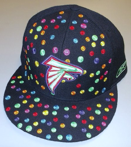 Atlanta Falcons Polka Dots Fitted Hat By Reebok Size - Football Hat Reebok