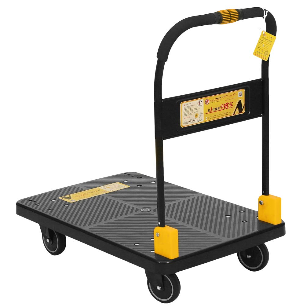 N/&S Chariot plateforme Heavy Duty 200 kg One main Rides Camion Cart avec mute Wheels Chariot de Plate-forme