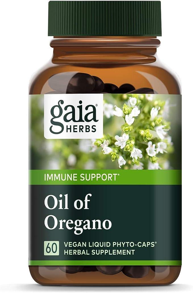 Gaia Herbs Oil of Oregano Vegan Liquid Capsules