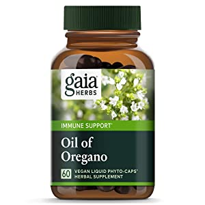 Gaia Herbs Oil of Oregano, Vegan Liquid Capsules, 60 Count - Immune and Intestinal Support for Healthy Digestive Flora