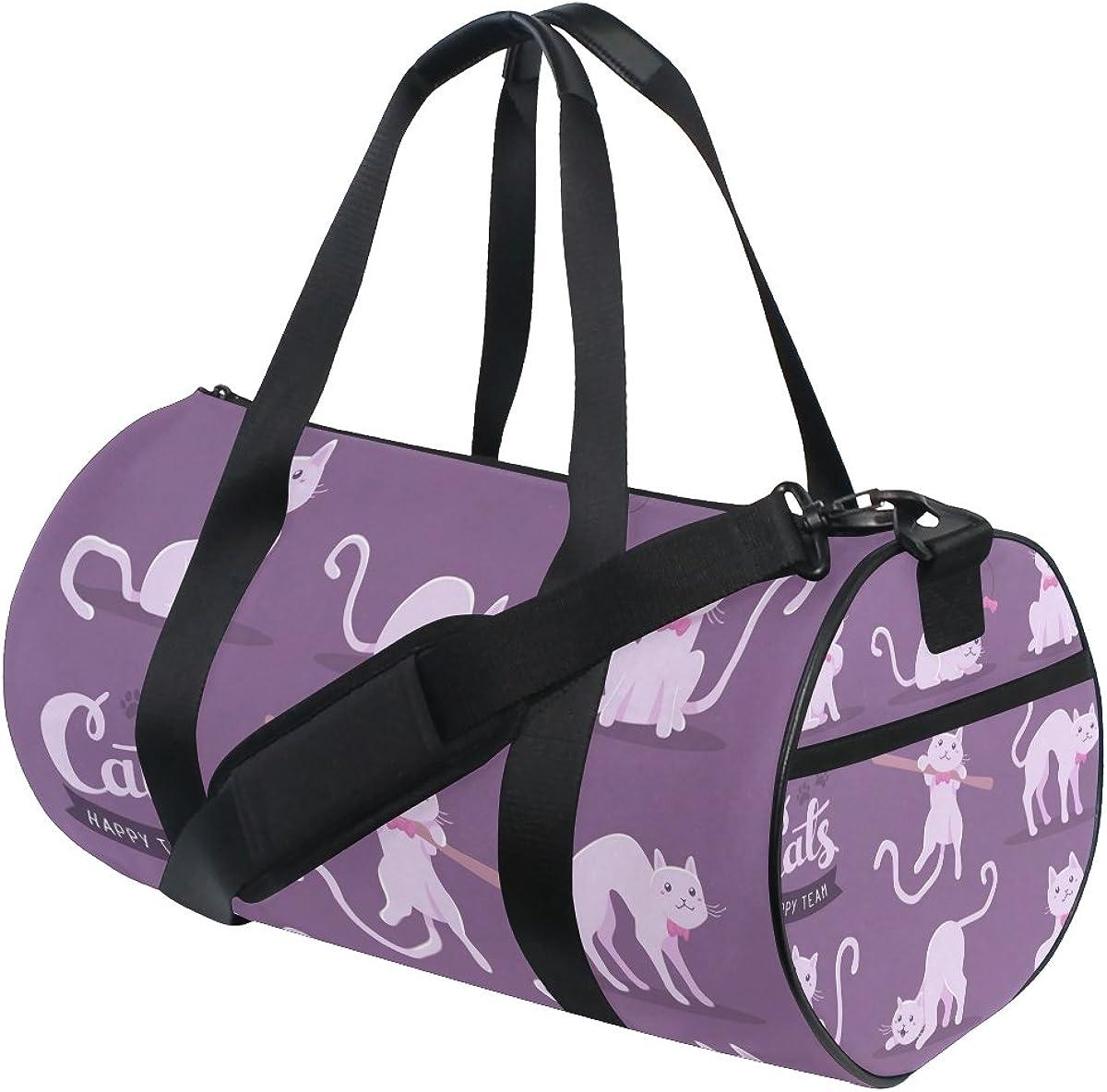 Evolutions Cute Cartoon Doodle Cats Travel Duffel Bag Sports Gym Bag For Men /& Women