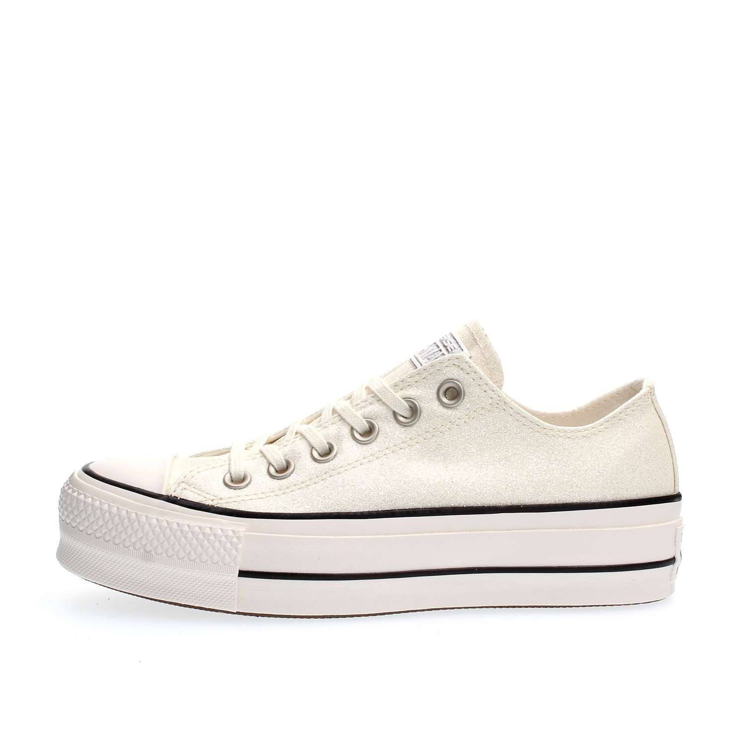 60381552c55f Converse Scarpe Chuck Taylor All Star Lift OX Platform Glitter Bianche P E  2018 561042C  Amazon.co.uk  Shoes   Bags