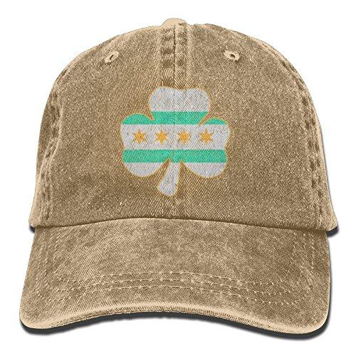 OPS Irish Shamrock Chicago Flag Adult Sport Adjustable Baseball Cap Cowboy Hat Irish Santa Hat