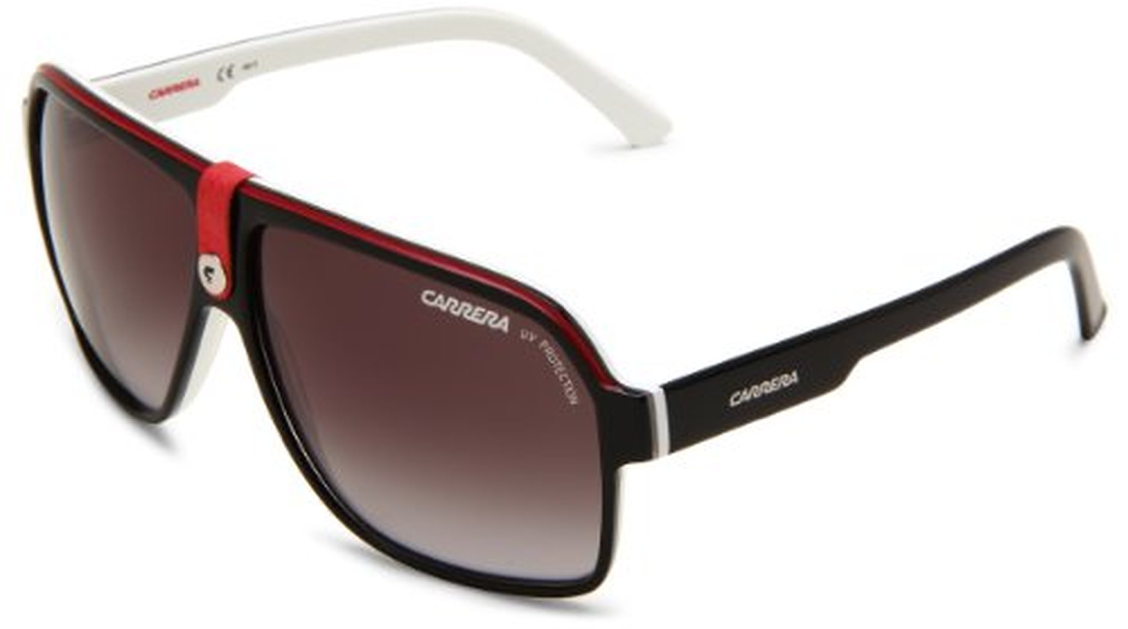 Carrera 33/S Sunglasses Black Crystal White / Gray Gradient & Cleaning Kit Bundle