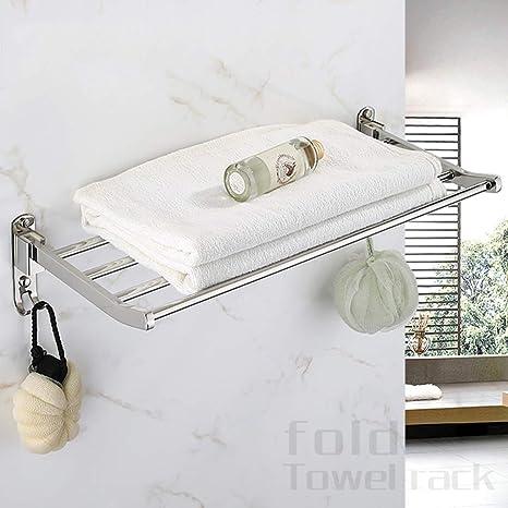 GWFVA Estante Toallero Estante de baño de Acero Inoxidable ...