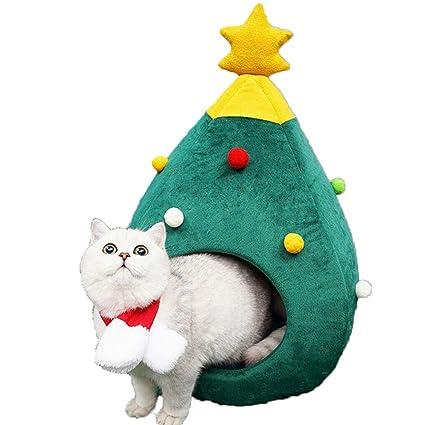 YICANG - Cama de árbol de Navidad para Gatos, Suave, cálida para ...