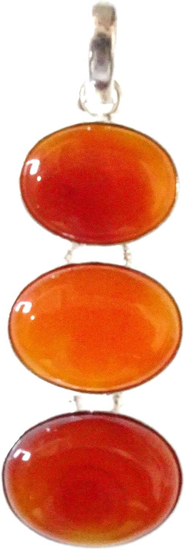 Hermoso Colgante de Moda de Piedras Preciosas de ónix Rojo Natural para Mujeres Hombres Hechos a Mano en 925 Plata esterlina Plateada Tribal Fino Amuleto de Filigrana Elegante joyería India curativa
