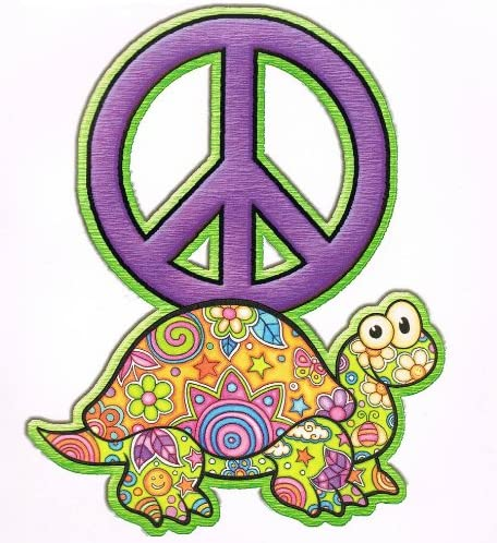 Amazon Com Main Street Wall Creations 6 Stickers Peace Signs Butterfly Frog Turtle Home Kitchen