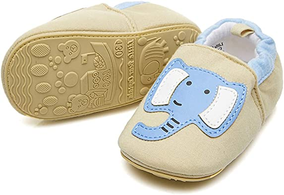 Newborn Baby Girl Boys Toddler Suede+Rubber Flat Crib Shoes First Walker Loafers
