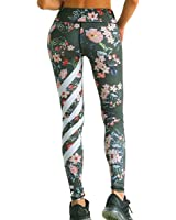 De la Mujer floral impreso polainas Ejercicio Workout Pants de Yoga Fitness Deportes Gimnasio Mallas