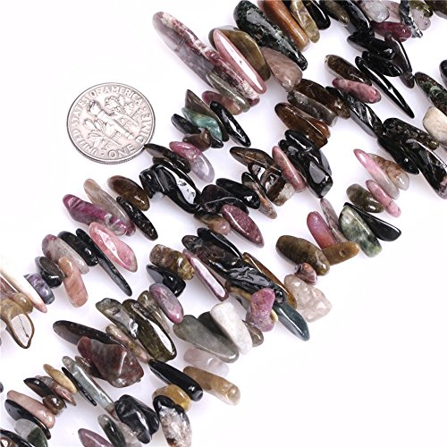 JOE FOREMAN 8mm-18mm Multicolored Tourmaline Semi Precious Gemstone Loose Beads for Jewelry Making DIY Handmade Craft Supplies 15