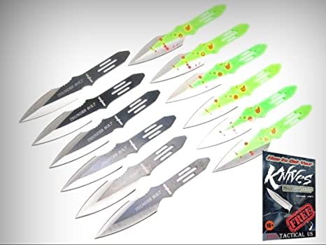 Amazon.com: Juego de 12 cuchillos de acero inoxidable con ...