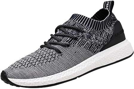 Logobeing Zapatillas de Running para Hombre - Zapatillas de Deporte de Malla Cruzada Malla Transpirable Zapatillas de Correr: Amazon.es: Zapatos y complementos