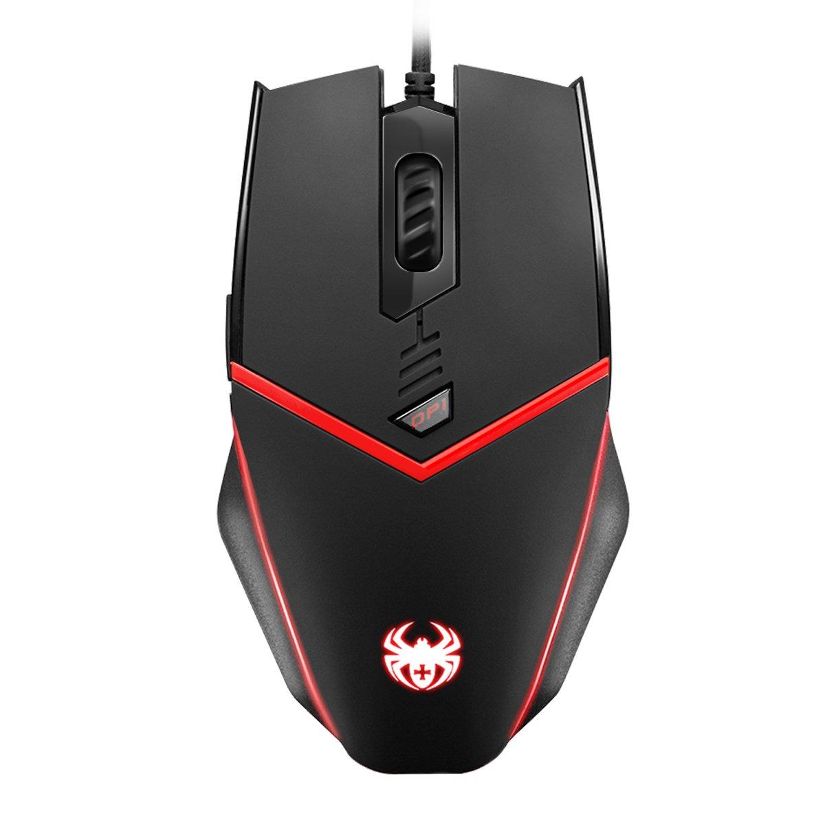 Mouse Gamer : Criacr Ergonomico USB Con cable Optico Ajustab
