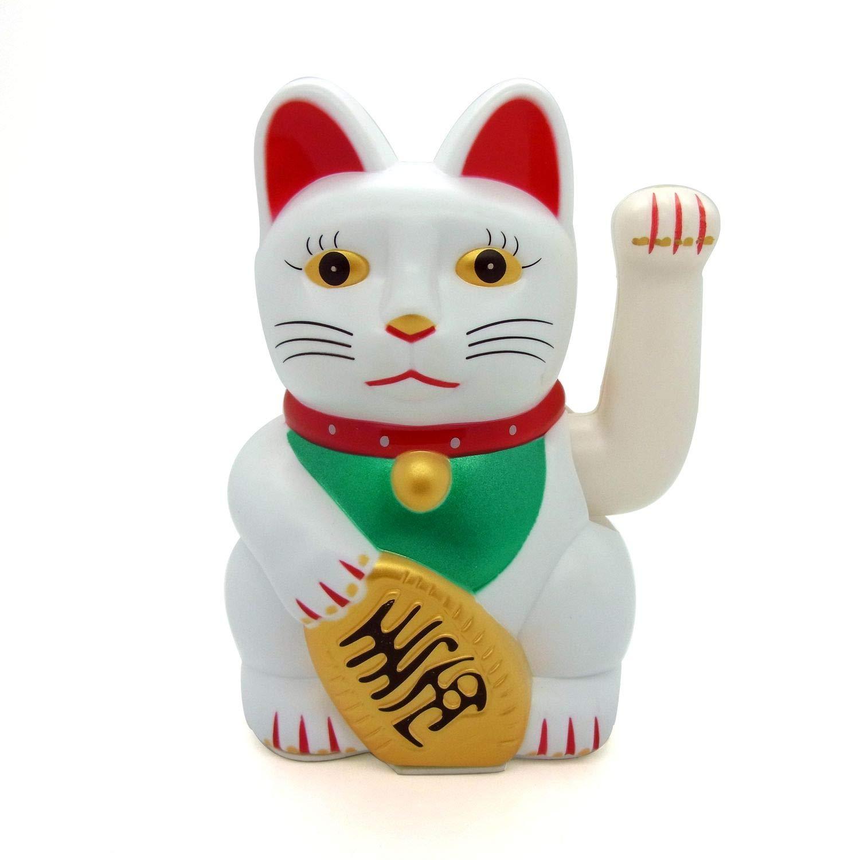 Neu+Glückskatze+Maneki Neko+Winkekatze+Glücksbringer+Glück+Katze+Feng Shui+