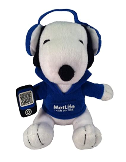 Metlife Snoopy Plush with Headphones