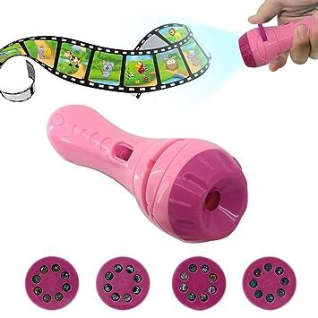 Projektionslampe Lichtprojektor Kinder Taschenlampe F/ür Kleinkind Junge M/ädchen Taschenlampe Projektor Kinder Projektor Spielzeug Mit 3 Folien Und 24 Bilder