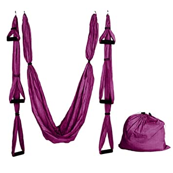 aneil anti gravity yoga swing inversion sling aerial flying hammock  purple  amazon     aneil anti gravity yoga swing inversion sling aerial      rh   amazon