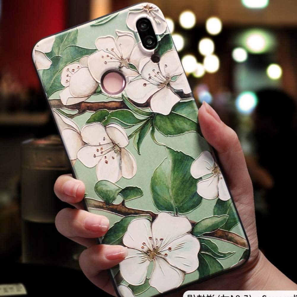 Amazon.com: KCHHA Phone case Soft 3D Emboss Case for Huawei ...