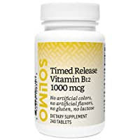 Amazon Brand - Solimo Timed Release Vitamin B12 1000 mcg - Normal Energy Production...