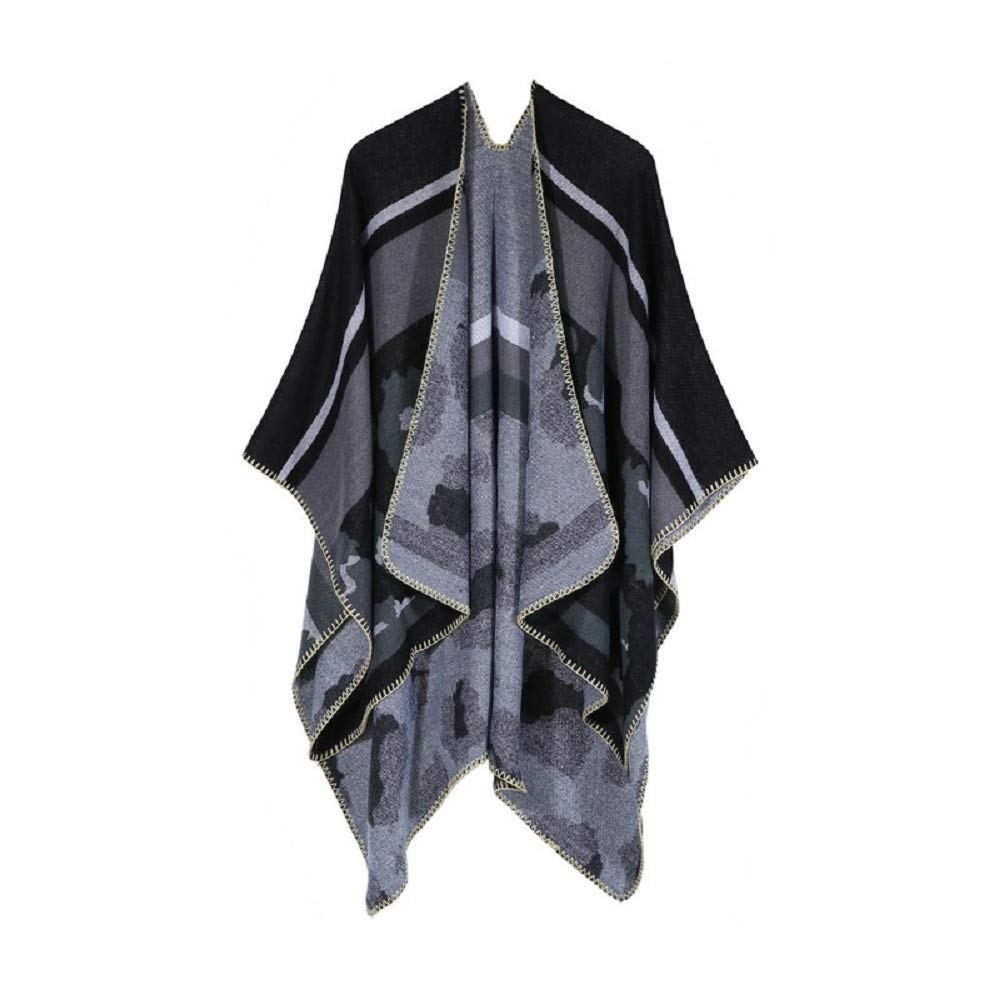 Excellent Women's Fall Winter Scarf Cloak Tassel Cape Mantle Scarf Strong Subdued Kerchief Wrap Shawl Scarves (Color : Gray, Size : 51.1 x 59.06 Inch') by Excellent