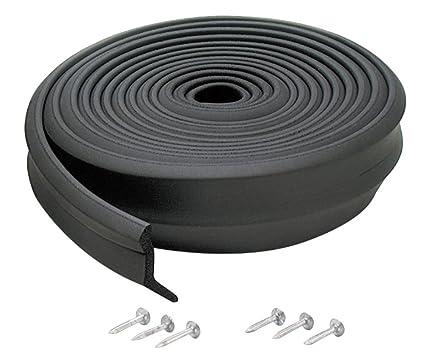 M D Building Products 3749 Garage Door Bottom Rubber, 16 Feet, Black