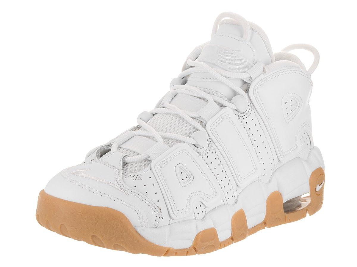 Amazon.com: NIKE Kids Air More Uptempo (GS) White/White/BMB/Gm Lght BRWN Basketball Shoe 6 Kids US: Shoes