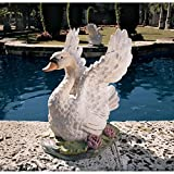 Design Toscano The Majesty of Swan Lake Sculpture – Set of Two