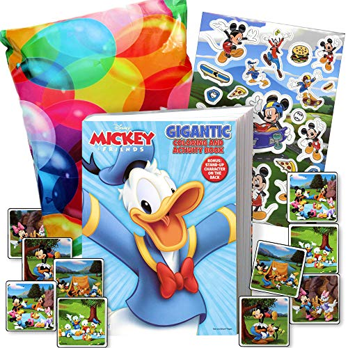 Disney Coloring Book and Stickers Gift Set - Bundle Includes Gigantic 192 pg Coloring Book with Stickers in Specialty Gift Bag (Donald Duck)