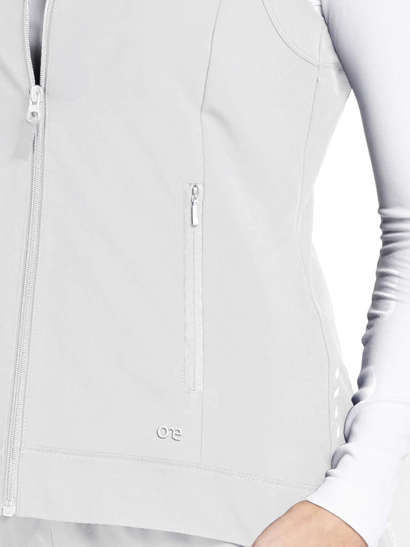 cf3b8d06873 Barco One 5406 Womens Zip Front Solid Scrub Vest - rouwcentrum ...