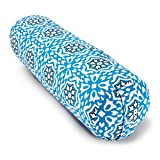 Blue Dove Yoga Bolster Made from GOTS Certified Organic Cotton Blue Print
