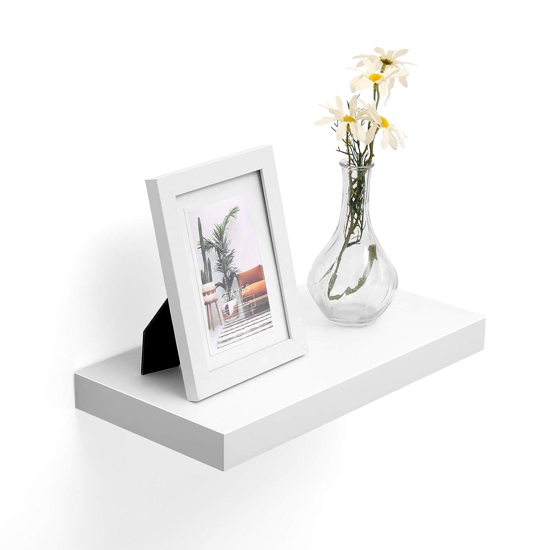 braun LWS24BX Schweberegal H/ängeregal B/üroregal f/ür Bilder Wandboard 40 x 20 x 3,8 cm Deko rustikal VASAGLE Wandregal MDF Holz